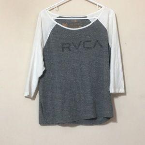 RVCA swoop neck top